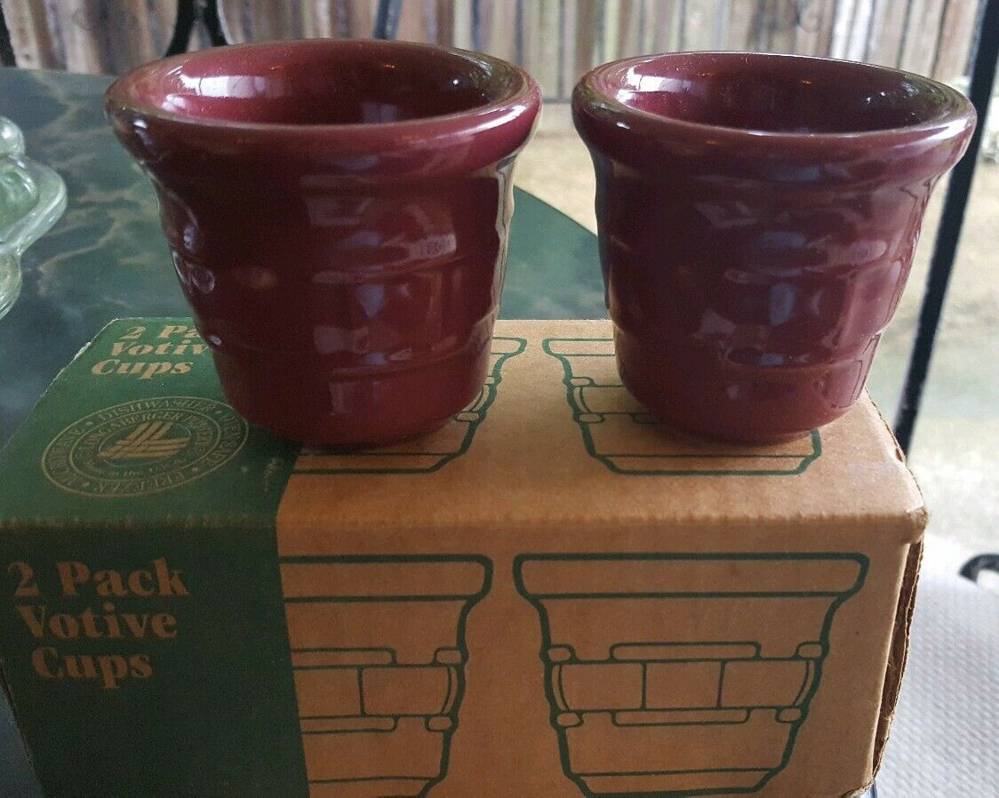 Primary image for Longaberger 2-pack Votive Cups New In Box Paprika Red
