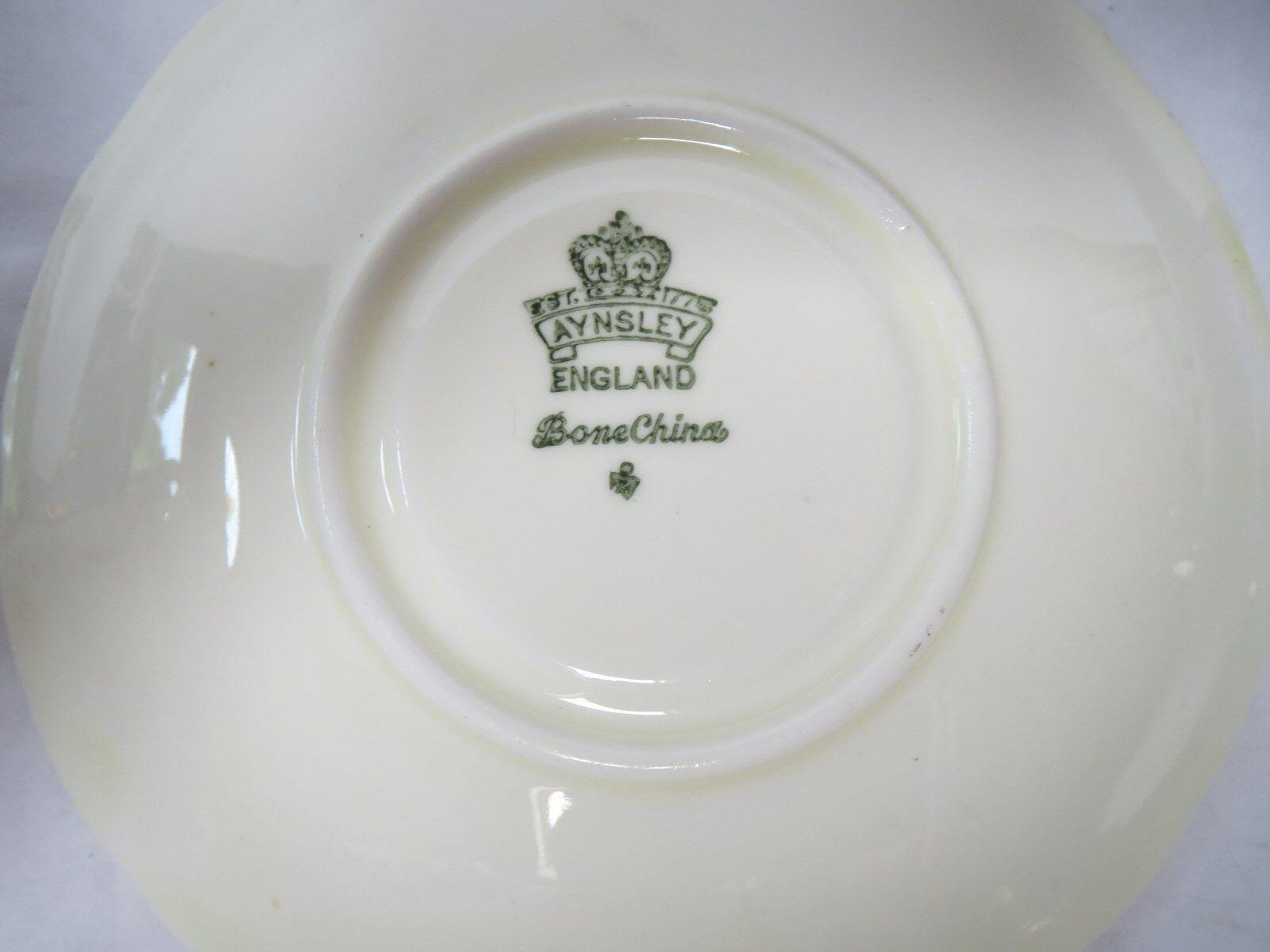 AYNSLEY TEA CUP AND SAUCER              E