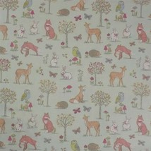 Animals of the Forest Duck Egg 100% Cotton High Quality Fabric Material ... - $3.07+