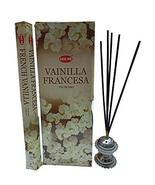 Hem French Vanilla Incense Sticks Natural Fragrance Hand Rolled Indian A... - $13.99