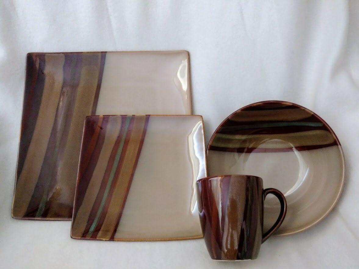 SANGO Avanti Brown 4722 Ceramic 4-Piece Place Setting Replacement Pieces - $28.37