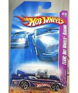 2008 Hot Wheels #147 Team: HW Racing 3/4 DOUBLE VISION Blue w/Chrome Pr5... - $7.35