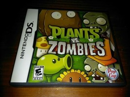 Nintendo DS Plants vs Zombies Video Game Complete w/ Case & Manual 2011 PopCap - $11.88