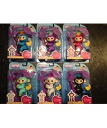FINGERLINGS AUTHENTIC WOWWEE Lot Of 6 Interactive Baby Monkeys Complete Set - $165.34