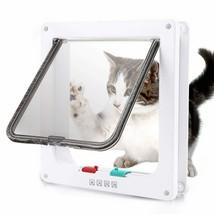 Flap Door with 4 Way Security Lock Dog Cat Flap Door for Dog Cats Kitten... - $19.86+