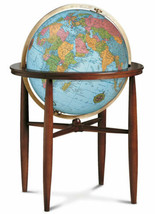 Finley Illuminated 20 Inch Floor World Globe By Replogle Globes - $1,685.00