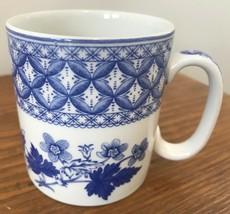 """Spode Blue Room Collection Geranium Coffee Mug 10 Ounce 3.25"""" England - $23.36"""