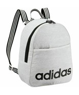 Adidas Core Mini Backpack Gray White Jersey Black Stripes New with Tags - $35.00