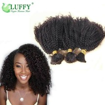 Afro Kinky Curly Human Hair Bulk Brazilian Virgin Human Hair Bulk For Br... - $40.49+