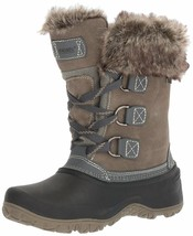 NEW WOMENS GREY KHOMBU SLOPE THERMOLITE ALL WEATHER TERRAIN WINTER SNOW BOOTS image 2