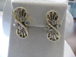 Vintage Coro Earrings 60s Earrings Modernist Earrings Coro Jewelry Mod E... - $23.00