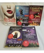 5 CHARLAINE HARRIS Books Lot DEAD UNTIL DARK, World, Dallas, Club Dead, ... - $28.75