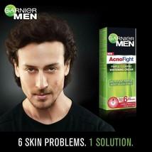 2x Garnier Men Acno Fight Pimple Clearing Whitening Day Cream, 45g Reduc... - $19.79