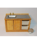 1 Pcs Oak Kitchen Sink Dollhouse Miniature Wood 1:12 one inch scale - DL - $54.00