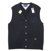 "TOMMY HILFIGER Golf Sweater Vest ""Treetops"" Course Button Up Logo Adult ... - $59.35"
