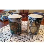 Oneida Sakura Still Life Hand-Painted Salt and Pepper Shakers, Pre-Owned - $15.00