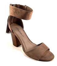 Faux Sz Suede Ankle Thick Strap Color Choose 32 Sandals Breckelles Heel Pensee aqtvnEqwT