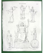GODS Jupiter Venus Cupid Minerva !! Antique Print A. REES - $12.60
