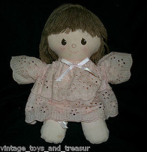 27.9cm Vintage 1984 Applause Sherry Baby Doll Rosa Abito Peluche Peluche - $30.73