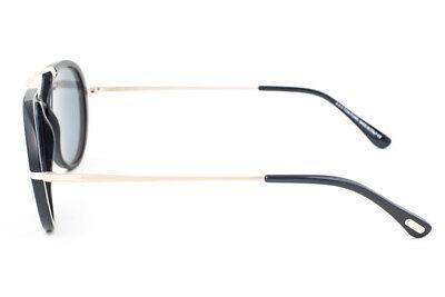 Tom Ford Aaron Black & Gold / Blue Sunglasses TF473 01V