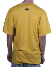 LRG L-R-G Mens Mustard Yellow Purple Don'T Do Not Force It T-Shirt NWT image 2