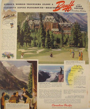 1940 Banff & Lake Louise Canadian Rockies Alberta Canadian Pacific Print Ad - $9.99