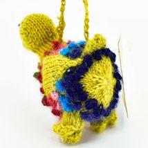 Handknit Alpaca Wool Whimsical Hanging Duck Bird Ornament Handmade in Peru image 3