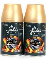 2 Glade 6.2oz Limit Edit Sultry Amber Rhythm Black Rum Leather Mint Spray Refill - $22.99