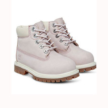 "Timberland Toddlers Girls 6"" Premium Lavender Leather Waterproof Boots 3... - $59.99"