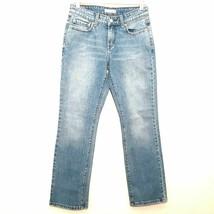LEVI'S 505 womens jeans 4x28 blue red tab regular fit straight leg stret... - $33.49