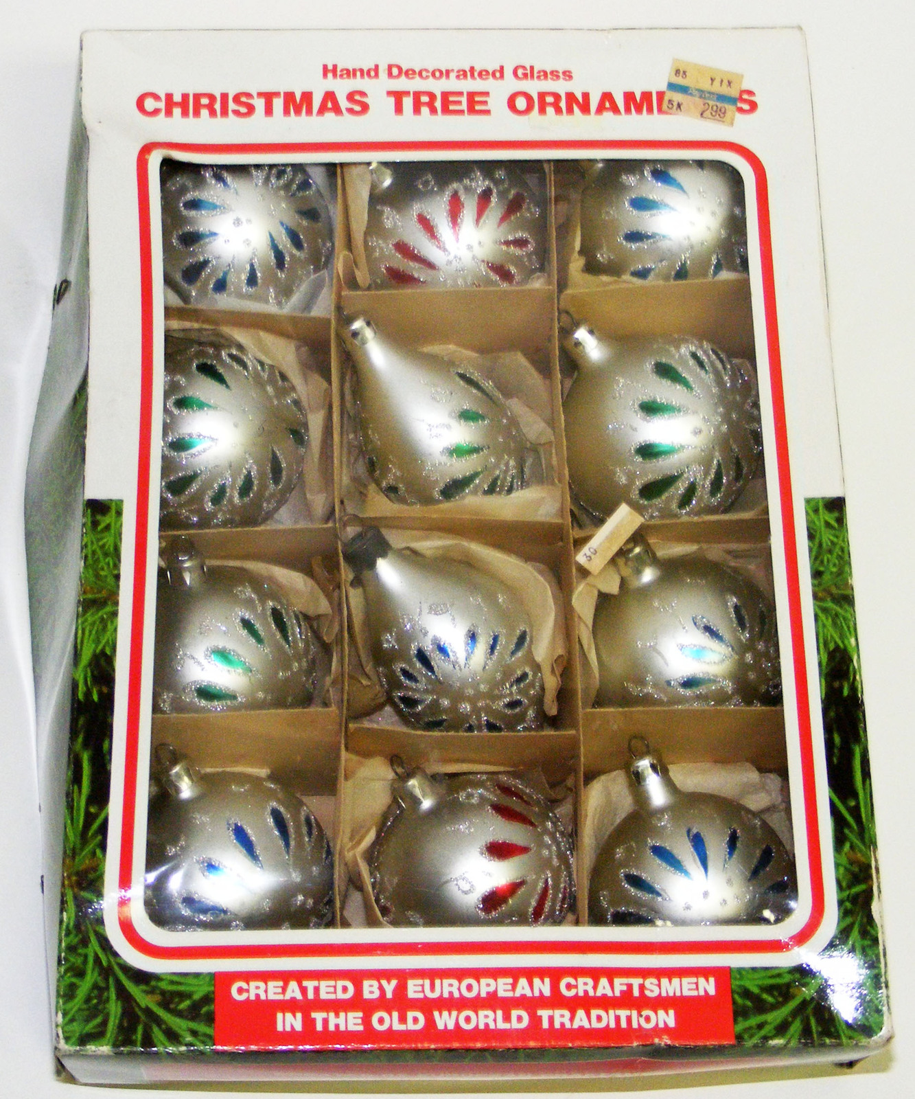 Primary image for 12 Vintage Glass Christmas Ornaments - Poland