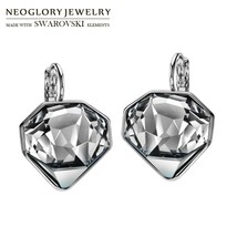 Neoglory MADE WITH SWAROVSKI ELEMENTS Crystal Drop Earrings Rhombus Desi... - $38.79