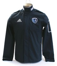 Adidas MLS Sporting Kansas City Gray Coaches Sideline Zip Front Jacket M... - $112.49