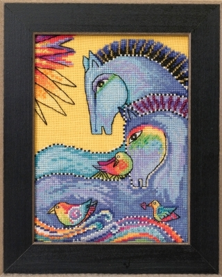 Primary image for Riviera Horses 2017 Horse Collection AIDA cross stitch kit Laurel Burch Mill Hil