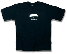 """GUINNESS DRAUGHT - BEER, ALE, LAGER, """"BY NIGHT"""" T-SHIRT *NEW* / SIZE M - $14.16"""