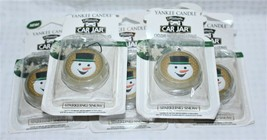 Lot of 5 Yankee Candle Co Sparkling Snow Ultimate Car Jar Air Freshener ... - $23.74