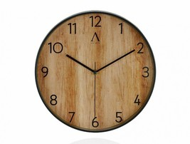 Wall Clock Wood Effect Wood Tree Multicolor Watch Vintage Handmade - $144.10