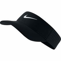 NEW! NIKE Adult Aerobill Elite Adjustable Running Visor-Black/White  - $54.33