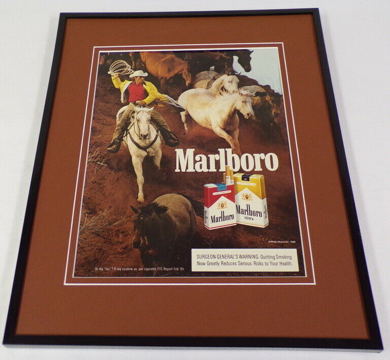 Primary image for 1988 Marlboro Cigarettes 11x14 Framed ORIGINAL Advertisement