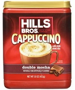 Hills Bros Cappuccino, Double Mocha, 16 Ounce Pack of 6 - $27.77
