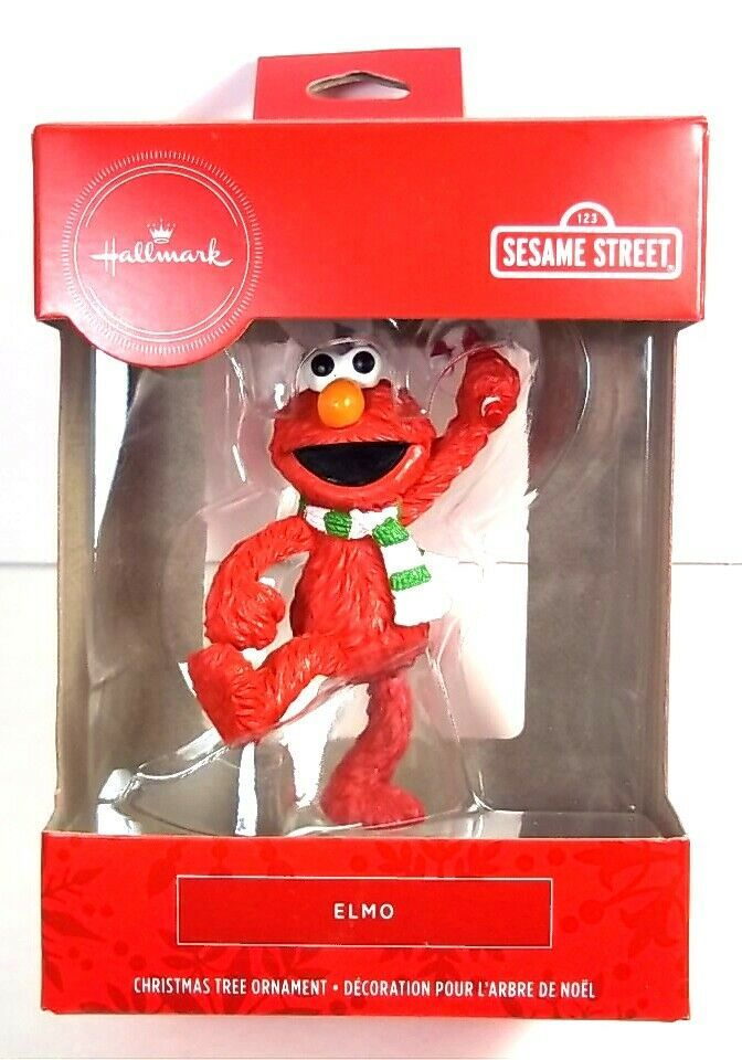 Primary image for Hallmark Red Box Sesame Street Elmo Christmas ornament NEW