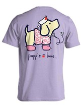 Puppie Love Rescue Dog Adult Unisex Short Sleeve Graphic T-Shirt,Nightingale Pup