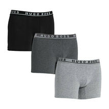 Hugo Boss Men's Natural Pure Cotton 3 Pack Underwear Boxers Trunks image 8