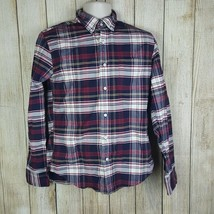 J Crew Mens Oxford Slim Plaid Shirt Size M Long Sleeve Button Front  - $18.81