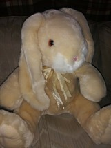 "Toys R Us Brandi Easter Bunny Rabbit Plush 15"" Cream Beige Floppy Ears B... - $32.66"