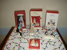 Hallmark 95 Friendly Boost, 02 Topping The Tree, 17 Penguin Express Orna... - $48.99