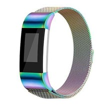 For Fitbit Charge 2 Bands Milanese Loop Stainless Steel Metal Bracelet w... - $413,96 MXN