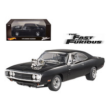 1970 Dodge Charger Black The Fast and The Furious (2001) Movie 1/18 Diec... - $143.98