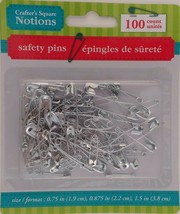 """SAFETY PINS Variety Size Pack 0.75"""", 0.88"""" & 1.5"""" 100 CT/PK - £2.29 GBP"""