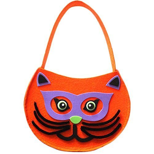 Cute DIY Halloween Kids Pumpkin Bag Trick or Treating Candy Bag,Set of 2 (Owl)